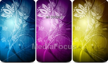 Abstract Floral Backgrounds. Stock Photo