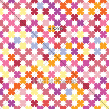 Abstract Flowers Repeating Texture Background Vector Illustration Stock Photo