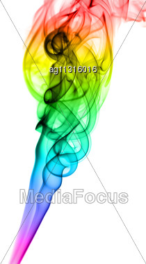 Abstract Fume Gradient Pattern Over The White Background Stock Photo