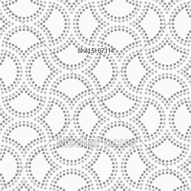 Abstract Geometric Background. Gray Seamless Pattern. Monochrome Texture.Dotted Cut Double Circle Pin Will Stock Photo