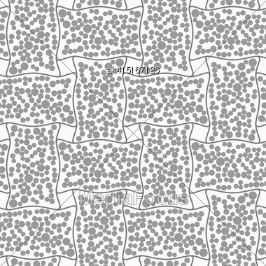 Abstract Geometric Background. Gray Seamless Pattern. Monochrome Texture.Dotted Rectangle Filled With Dots Stock Photo