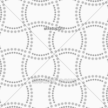 Abstract Geometric Background. Gray Seamless Pattern. Monochrome Texture.Dotted Doubled Rectangles Stock Photo