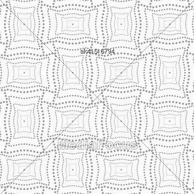 Abstract Geometric Background. Gray Seamless Pattern. Monochrome Texture.Dotted Rectangle With Doted Structure Stock Photo
