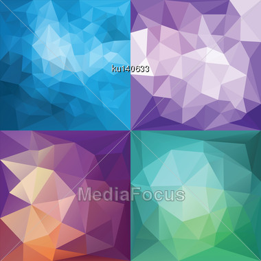 Abstract Geometric Backgrounds. Polygonal Vector Backgrounds Stock Photo