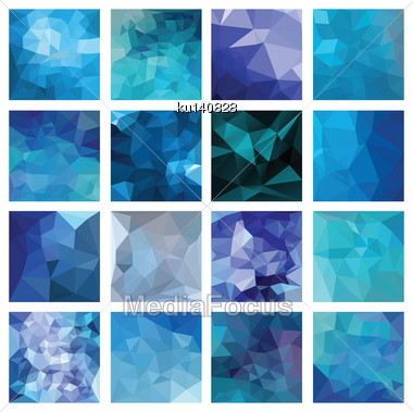 Abstract Geometric Backgrounds. Polygonal Vector Design Stock Photo