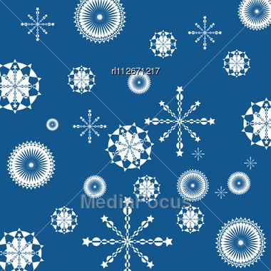 christmas seamless background with glitter white snowflakes stock #380