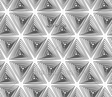 Abstract Geometrical Pattern. Modern Monochrome Background.Flat Gray With Hatched Triangles Stock Photo