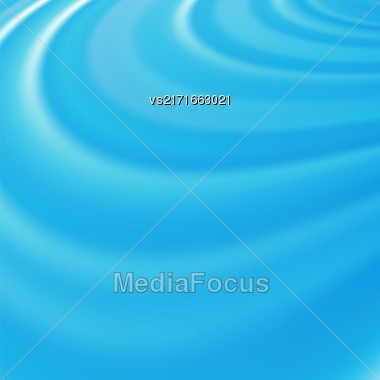 Abstract Glowing Azure Waves. Smooth Swirl Light Background Stock Photo
