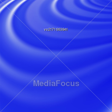 Abstract Glowing Blue Waves. Smooth Swirl Light Background Stock Photo