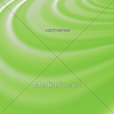Abstract Glowing Green Waves. Smooth Swirl Light Background Stock Photo
