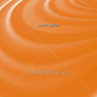 Abstract Glowing Orange Waves. Smooth Swirl Light Background Stock Photo