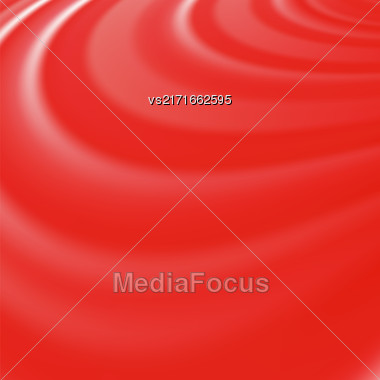 Abstract Glowing Red Waves. Smooth Swirl Light Background Stock Photo