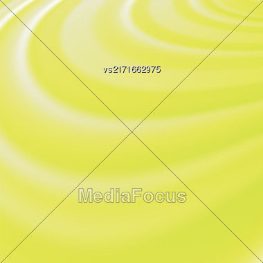 Abstract Glowing Yellow Waves. Smooth Swirl Light Background Stock Photo