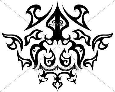 Abstract Gothic Emblem Stock Photo