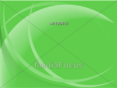 Abstract Green Background With Soft Curved Lines Stock Photo