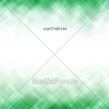 Abstract Green Background. Square Mosaic Pattern. Template Design For Banner, Poster Stock Photo
