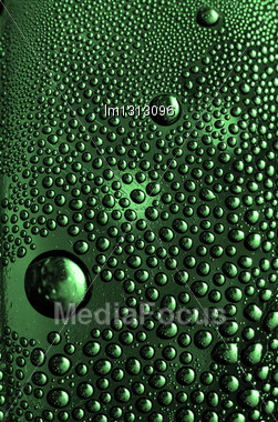 Abstract Green Drop In A Plastic Material Stock Photo