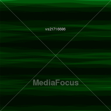 Abstract Green Horizontal Wave Background. Dark Green Pattern Stock Photo