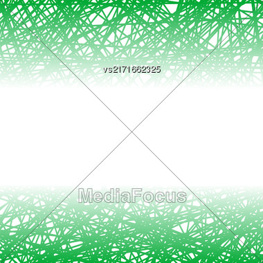 Abstract Green Line Background. Grunge Green Line Pattern Stock Photo