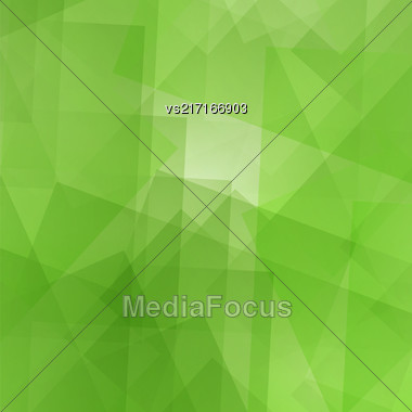 Abstract Green Pattern. Geometric Digital Futuristic Background Stock Photo