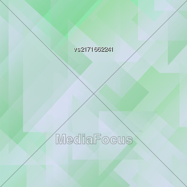 Abstract Green Pattern. Geometric Green Futuristic Background Stock Photo