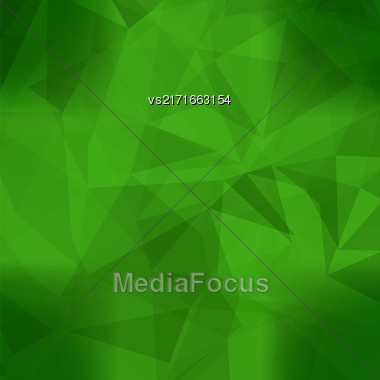 Abstract Green Pattern. Geometric Green Futuristic Background Stock Photo