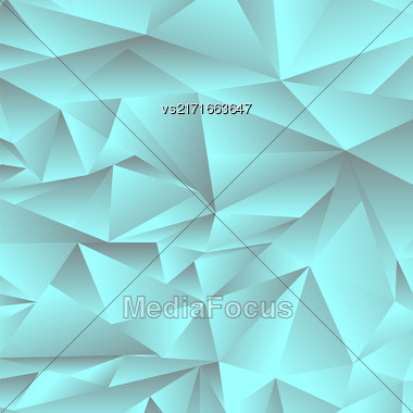 Abstract Green Polygonal Background. Abstract Green Polygonal Pattern Stock Photo
