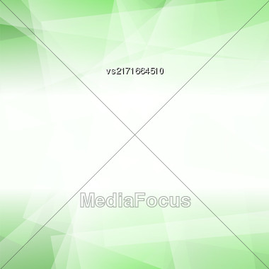 Abstract Green Polygonal Background. Green Geometric Pattern Stock Photo