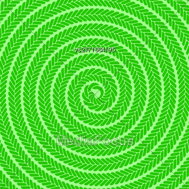 Abstract Green Spiral Pattern. Abstract Green Spiral Background Stock Photo