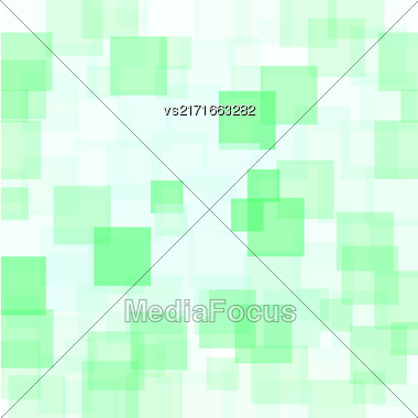 Abstract Green Squares Background. Abstract Green Squares Futuristic Pattern Stock Photo