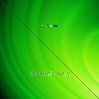 Abstract Green Wave Background. Blurred Green Pattern Stock Photo