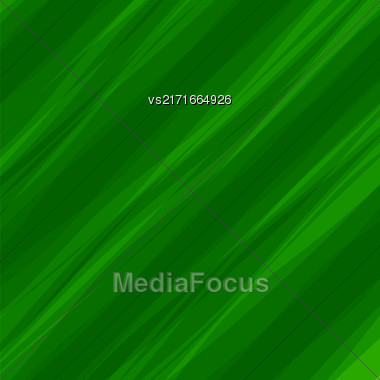 Abstract Green Wave Background. Green Diagonal Pattern Stock Photo