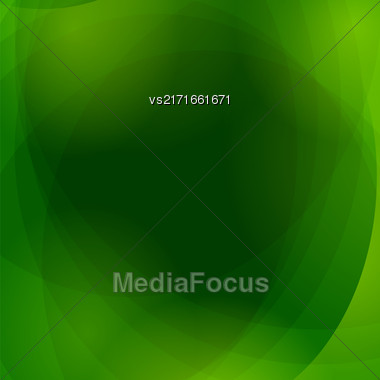 Abstract Green Wave Background. Green Light Pattern Stock Photo