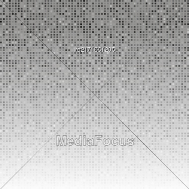 Abstract Grey Creative Pixel Pattern. Technology Background Stock Photo