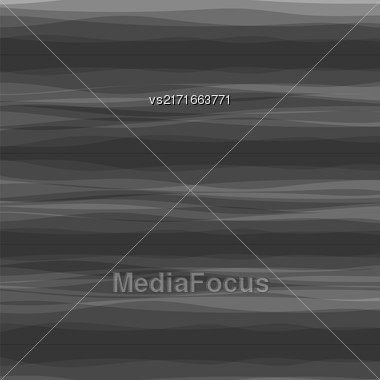 Abstract Grey Horizontal Wave Background. Dark Grey Pattern Stock Photo
