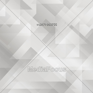 Abstract Grey Pattern. Geometric Grey Futuristic Pattern Stock Photo