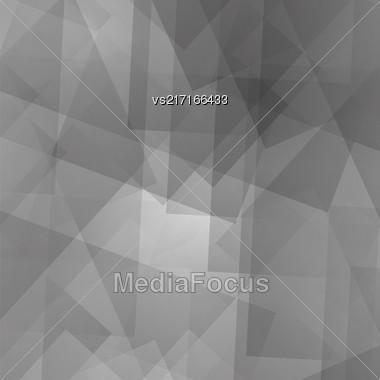 Abstract Grey Pattern. Geometric Grey Futuristic Pattern Stock Photo