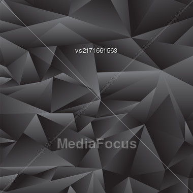 Abstract Grey Polygonal Background. Abstract Grey Polygonal Pattern Stock Photo