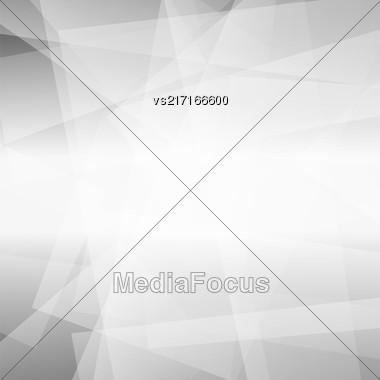 Abstract Grey Polygonal Background. Grey Geometric Pattern Stock Photo