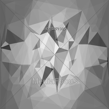 Abstract Grey Polygonal Background. Grey Stones Texture Stock Photo