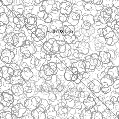 Abstract Grey Seamless Pattern On White Background Stock Photo