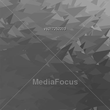 Abstract Grey Triangle Background. Modern Mosaic Pattern. Template Design For Banner, Poster Stock Photo
