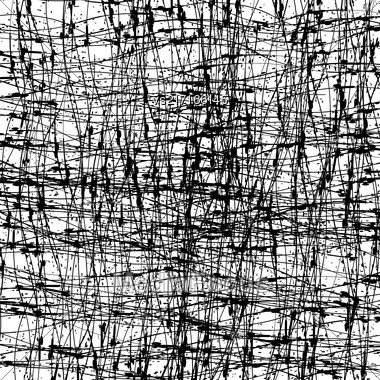 Abstract Grunge Texture. Black Ink Background. Dirty Monochrome Pattern. Brush Painted Design Element Stock Photo