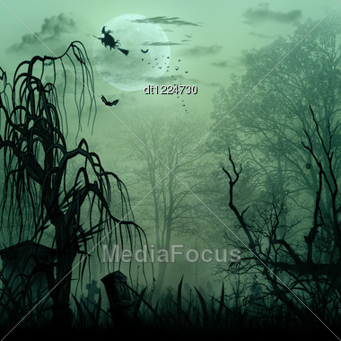 Abstract Halloween Backgrounds With Copy Space For Your Design Stock Photo