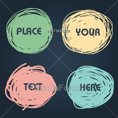 Abstract Hand-drawn Talking Comic Bubbles Set Stock Photo