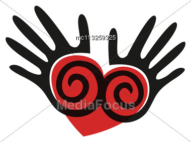 Abstract Hands. Vector Seamless Background Stock Photo