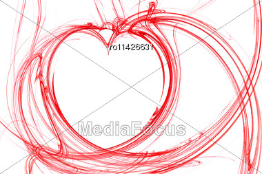 Abstract Heart Isolated Over White Background Stock Photo