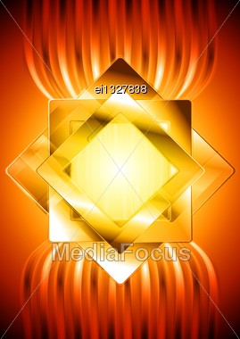 Abstract Hi-tech Background With Squares. Eps 10 Vector Design Stock Photo
