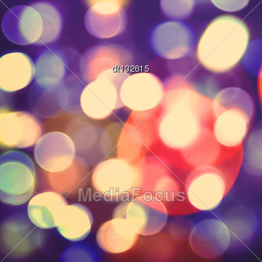 Abstract Holidays Backgrounds With Beauty Bokeh And Lights Stock Photo