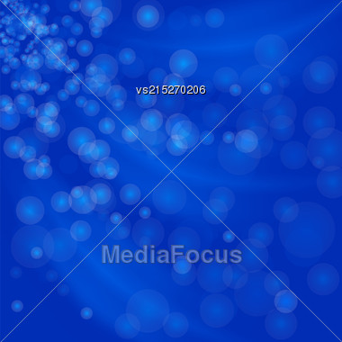 Abstract Light Background. Blurred Lights Blue Background Stock Photo